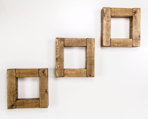 Set of 3 small Cube Style Shelves